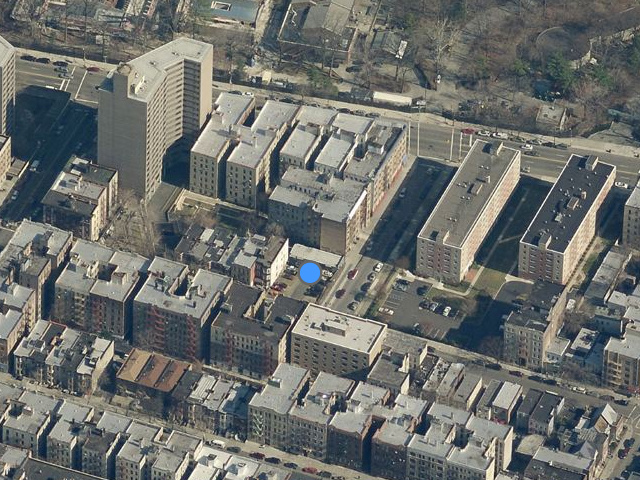 2346 Prospect Avenue, overhead shot from Bing Maps