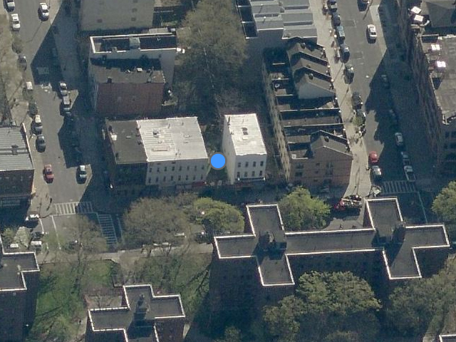 543 Marcy Avenue, overhead shot from Bing Maps