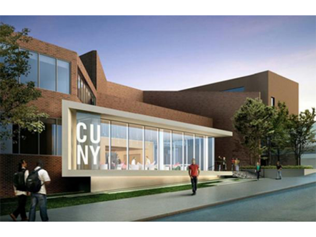 Medgar Evers College Library Expansion, rendering by ikon.5 Architects