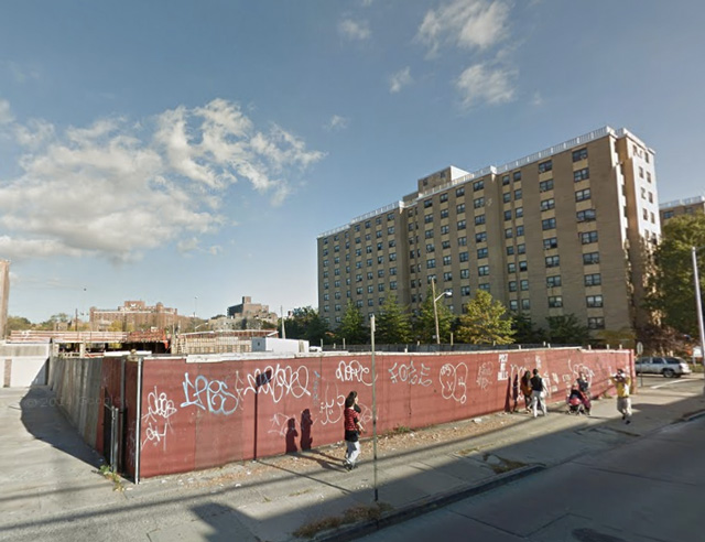 The vacant lot at the corner of Linden and Latimer