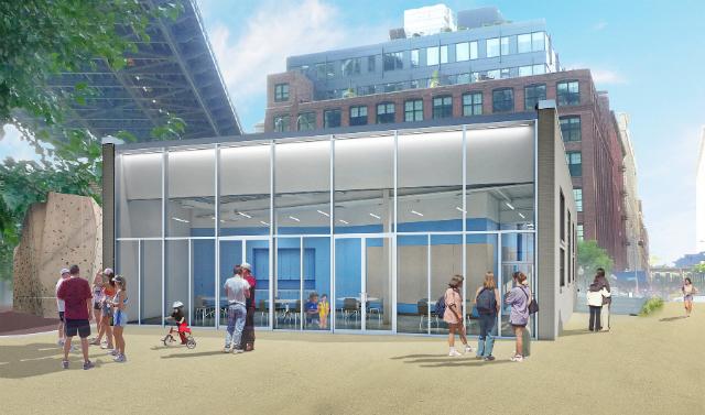 Brooklyn Bridge Park building,