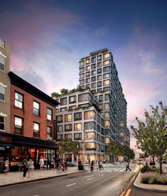 Revealed 550 vanderbilt avenue 17 story pacific park for Jackson terrace yonkers ny