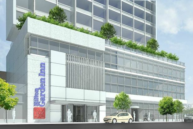 93-43 Sutphin Boulevard, rendering via Able Hotels
