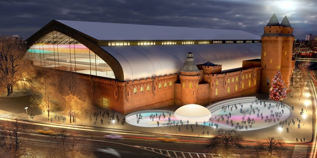 Kingsbridge Armory, rendering by Herzog & de Meuron