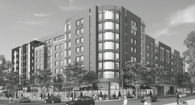 Old rendering for 1825 Boston Road, by Hugo S. Subotovsky Architects, via City Land