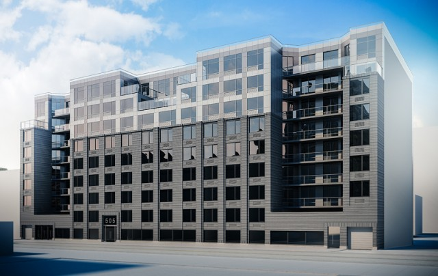 505 St. Marks Avenue, rendering by Issac+Stern Architects