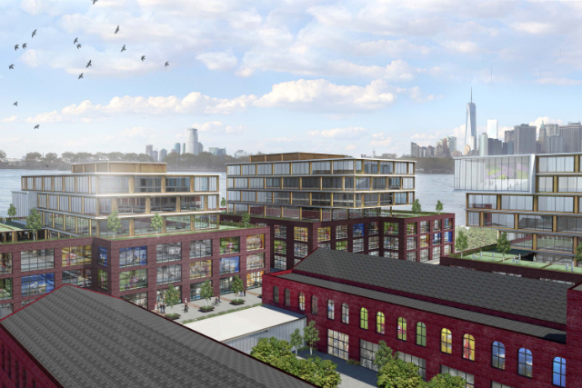 Red Hook office complex, rendering by NBBJ