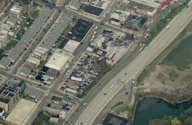 1520 Boone Avenue (full block site at center, with cars), image from Bing Maps