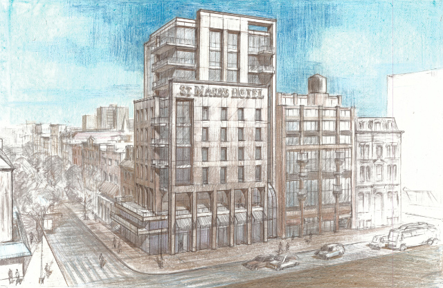 New St. Mark's Hotel, drawing by Z Architecture