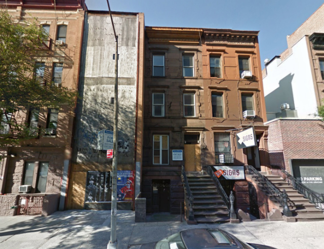 132-134 West 83rd Street (boarded up building and brownstone next door), image from Google Maps