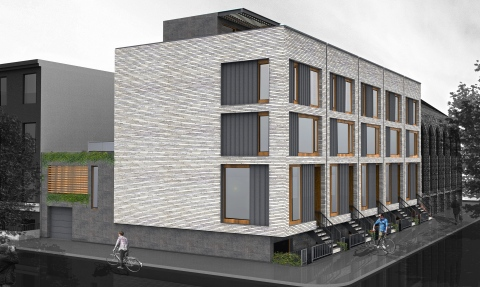 73-79 Bond Street/390 State Street townhouses, image from Ben Hansen Architect