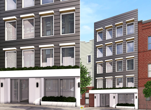 139 Meserole Street, rendering by Mortar Architecture + Development