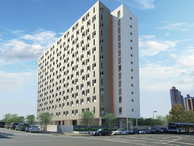 Draper Hall, rendering from Dattner