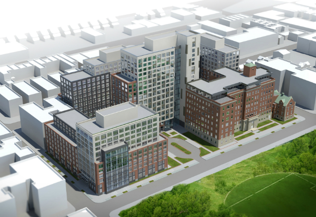 Mary Immaculate Hospital redevelopment, image by Goldstein, Hill & West
