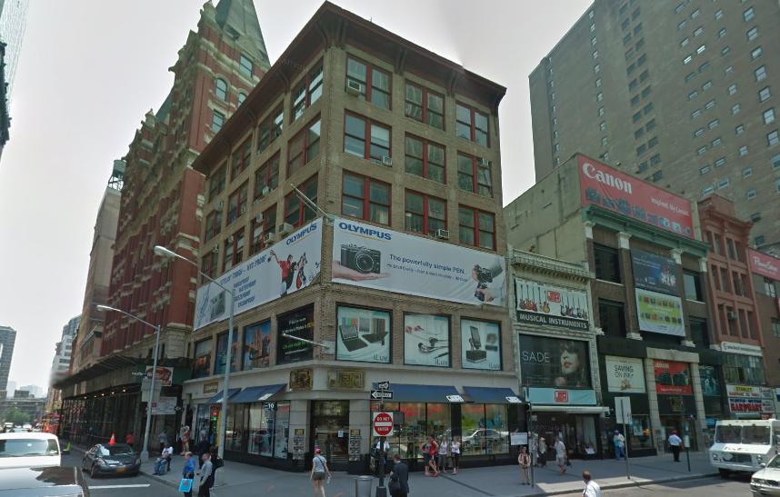 1 Beekman Street, aka 33-34 Park Place, image via Google Maps1 Beekman Street, aka 33-34 Park Place, image via Google Maps