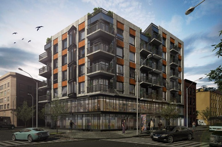 810 Flushing Avenue, rendering by Charles Mallea Architect