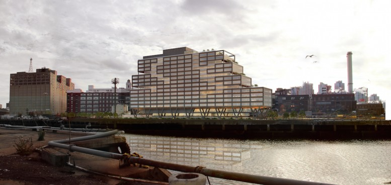 WeWork's Dock 72 at the Brooklyn Navy Yard, rendering by S9 Architecture/Perkins Eastman
