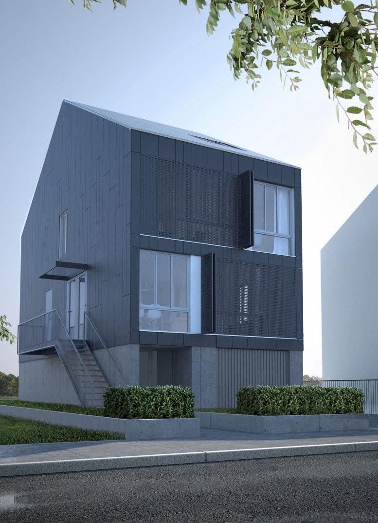 A view of 481 Midland Avenue from the street, rendering by AB Architekten