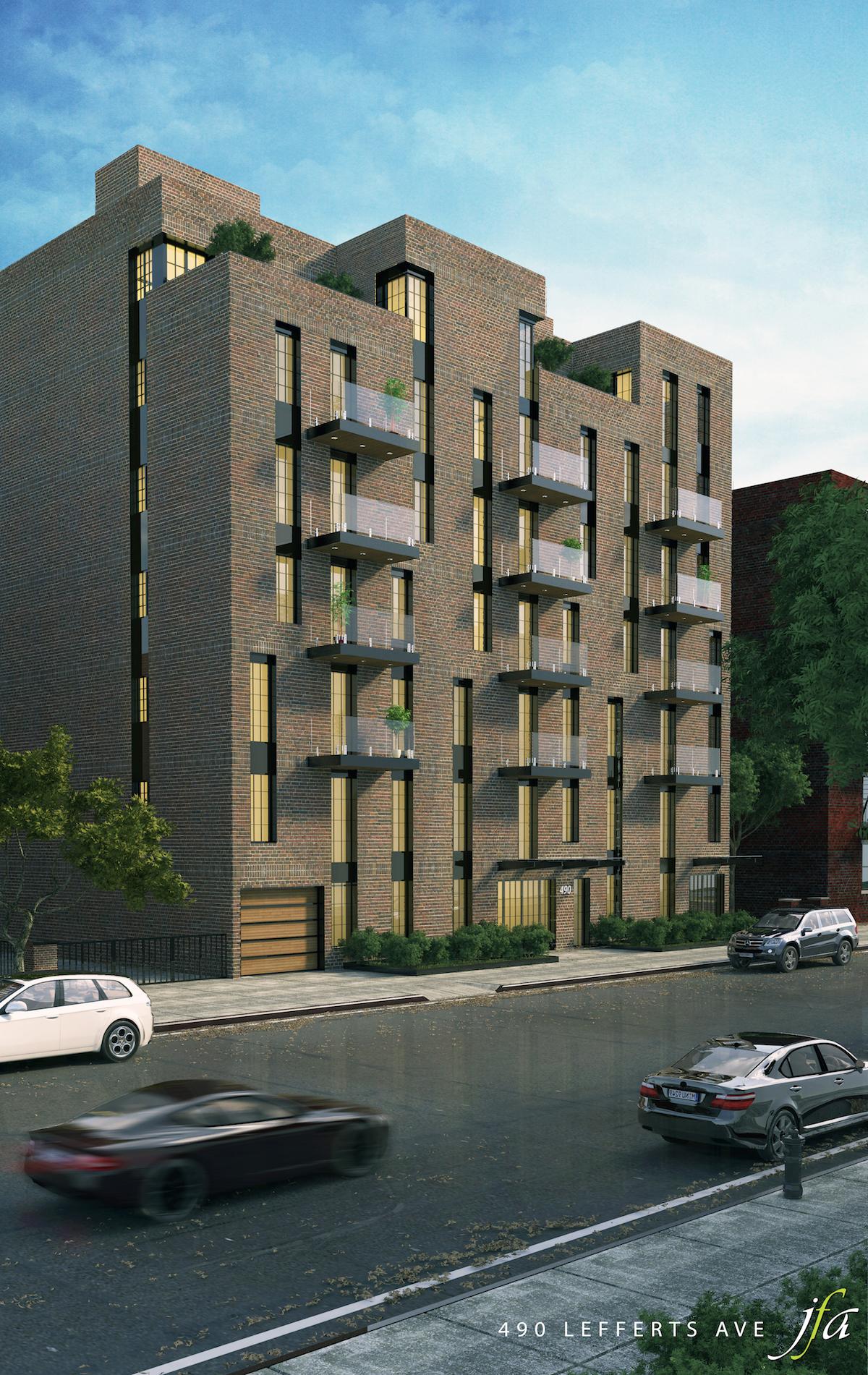 490 Lefferts Avenue, rendering by J Frankl Associates