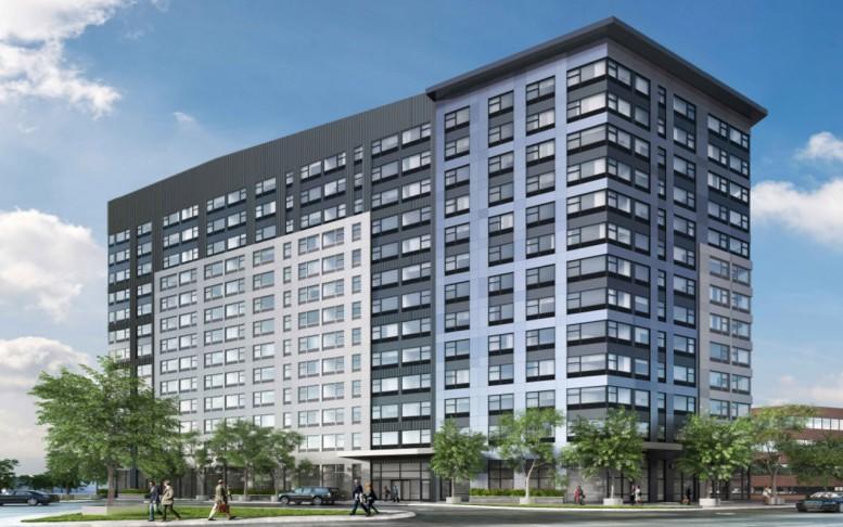 3 Journal Square Plaza, rendering via Marchetto Higgins Stieve Architects