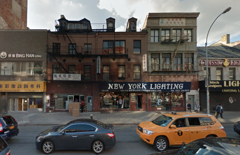 134-138 Bowery in October 2014, image via Google Maps