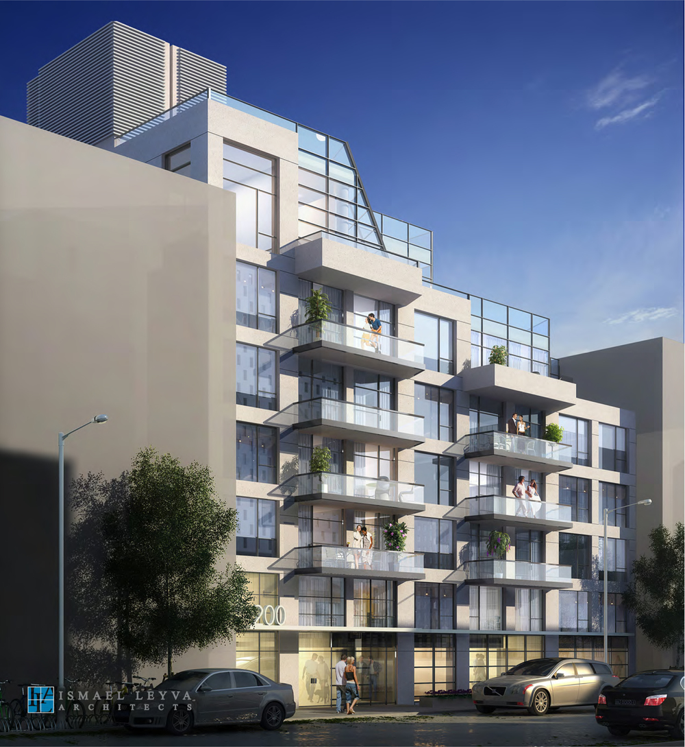 200 South 3rd Street, rendering by Ismael Levya Architects