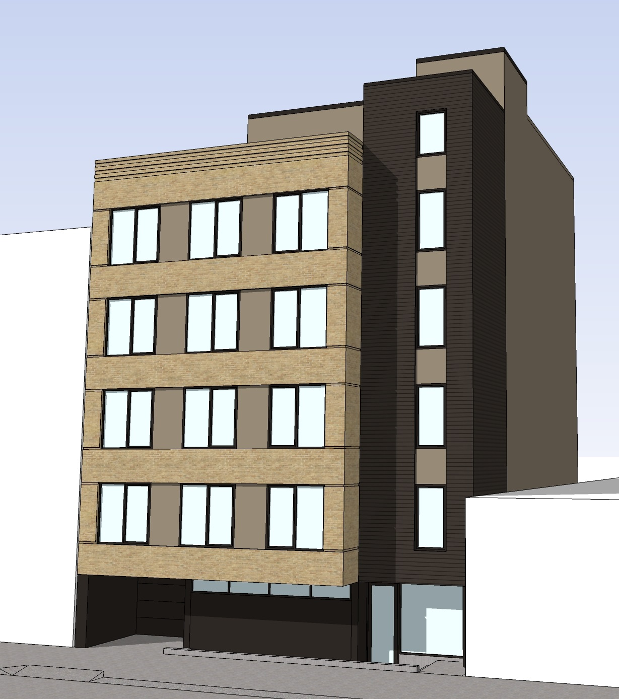 359 Linden Street, rendering by Boro Architects
