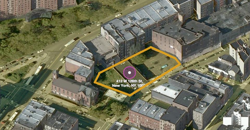 412-418 West 126th Street, image via Bing Maps