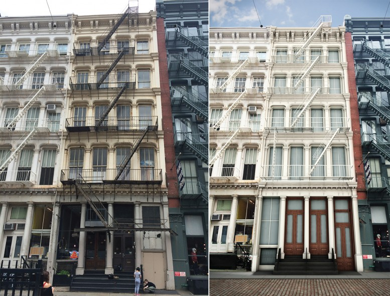 10 Greene Street, existing and proposed.