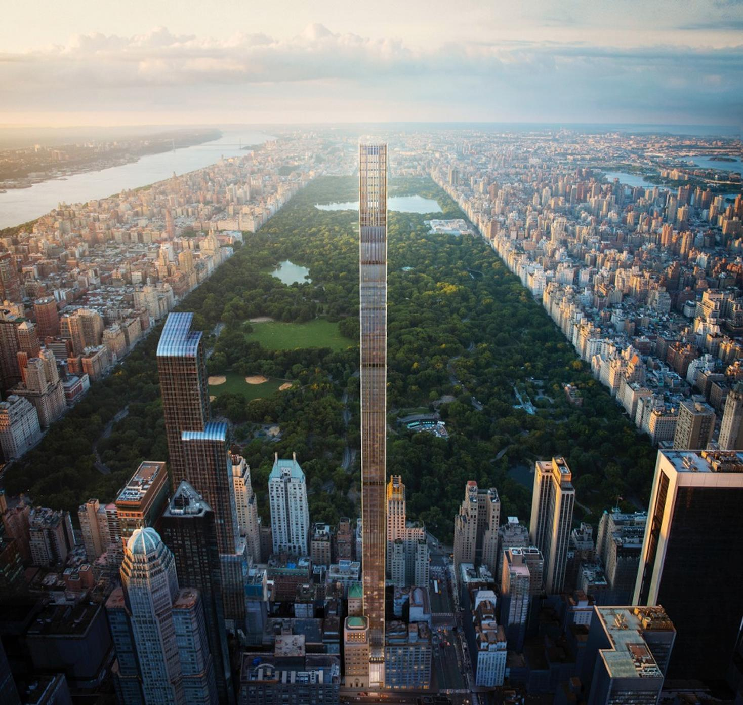 Rendering of 111 West 57th Street. Credit: Hayes Davidson and SHoP Architects
