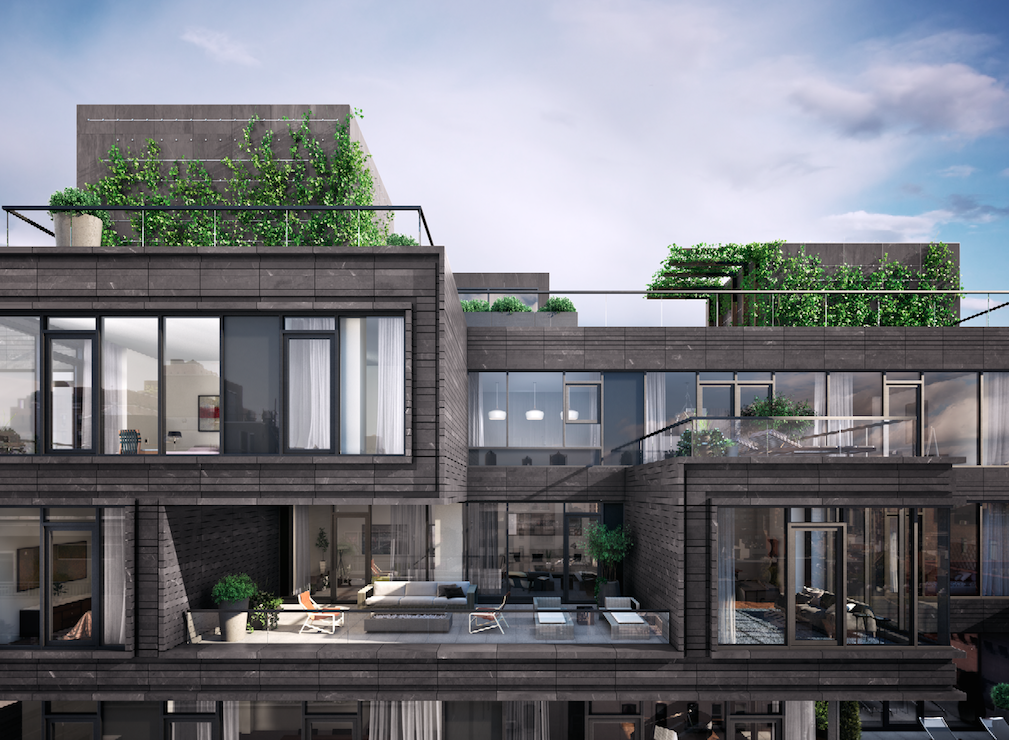 155 West 18th Street penthouse, rendering by MARCH