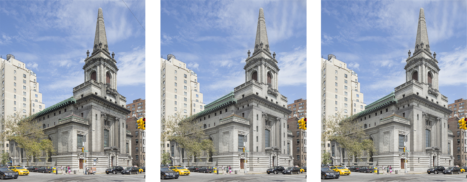 361 Central Park West - existing conditions, 2014 proposal, and 2015 proposal.