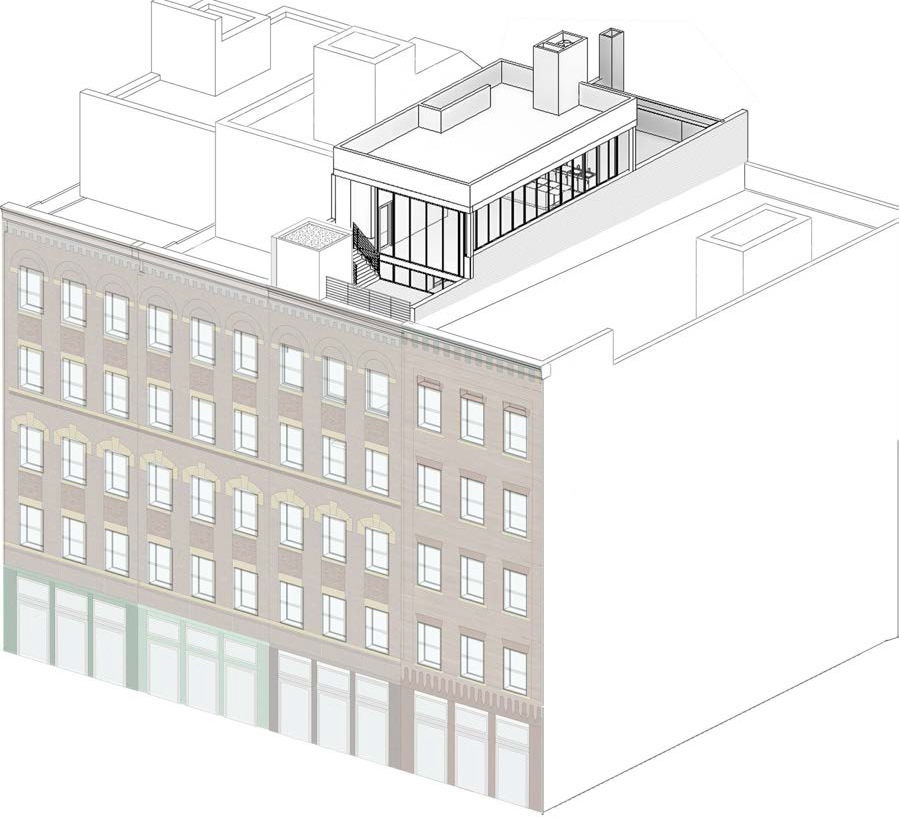 Proposed rooftop addition at 13 Jay Street