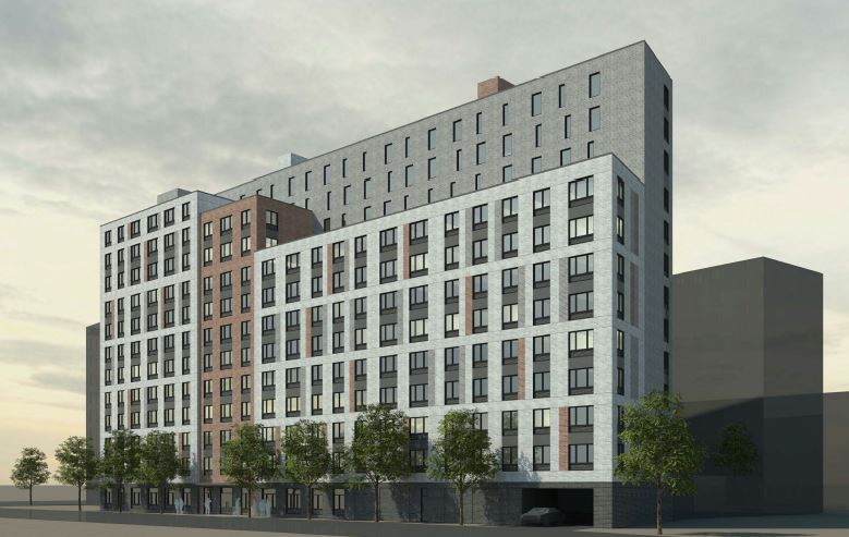 530 Exterior Street, rendering by Dattner Architects