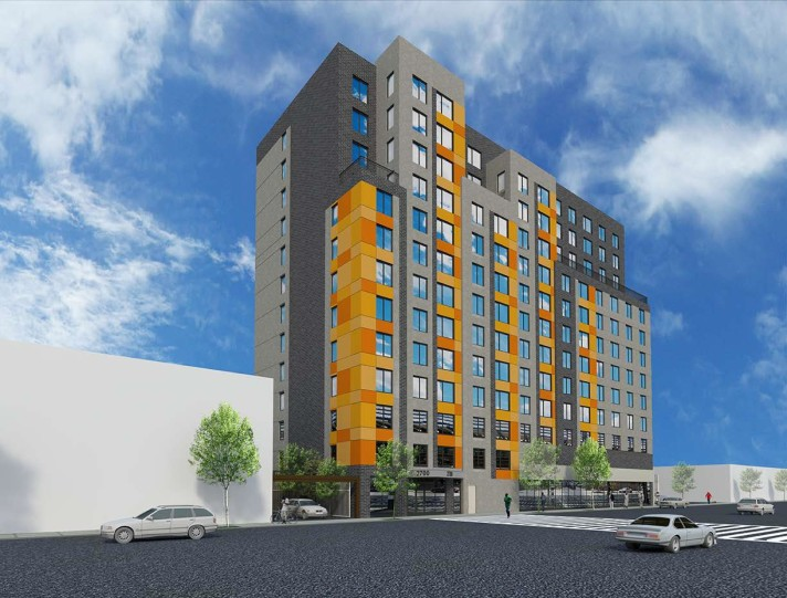2700 Jerome Avenue, rendering by MHG Architects