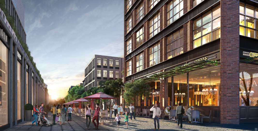680 Baltic Street courtyard, rendering via SLCE Architects