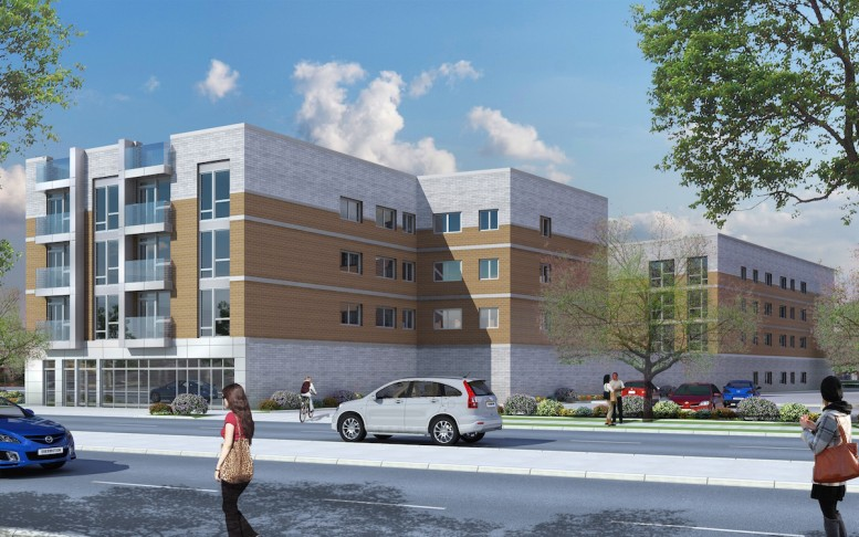 158-15 Union Turnpike, rendering by Angelo & Anthony Ng's Architects Studio
