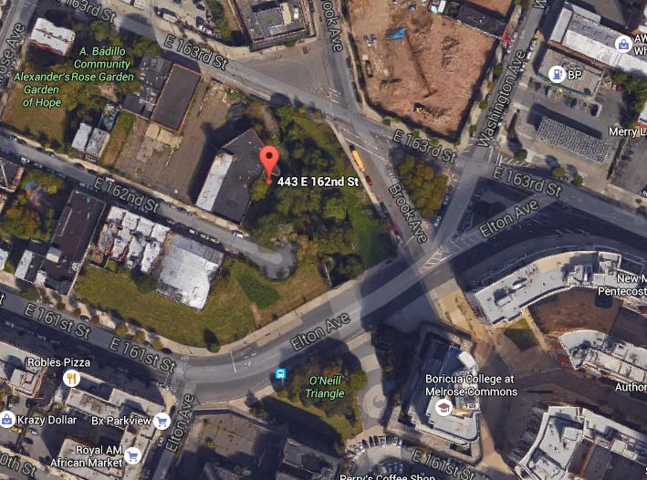 443 East 162nd Street, image via Google Maps