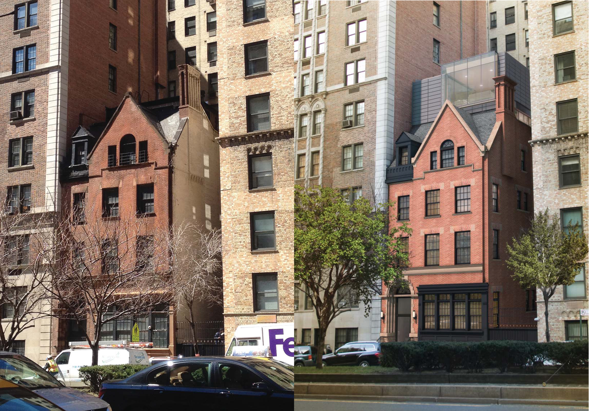 890 Park Avenue, existing and proposed.