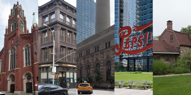 Five of the sites prioritized for designation by the Landmarks Preservation Commission.