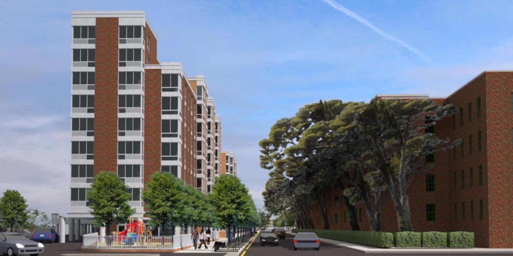 50-25 Barnett Avenue, rendering by MHG Architects via DCP