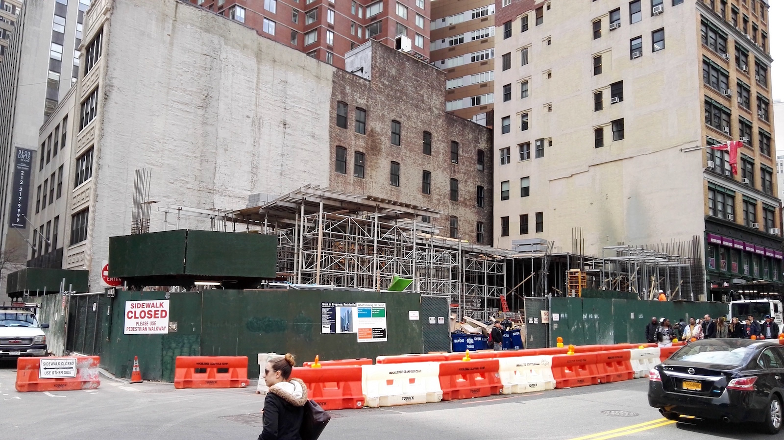 Construction at 56 Fulton Street. Photo by YIMBY reader Rich Brome
