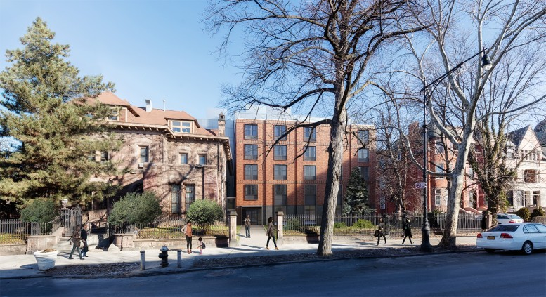 Proposal for 839 St. Marks Avenue, as seen from St. Marks Avenue