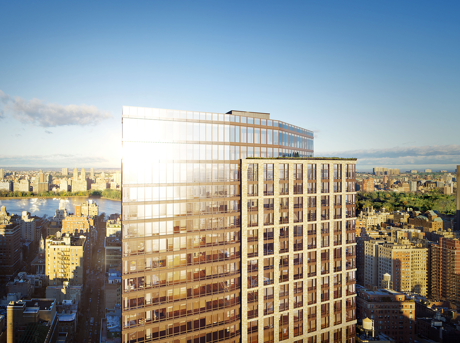Rendering of the Easton, 205 East 92nd Street. Designed by Handel Architects. Rendering by Moso Studio