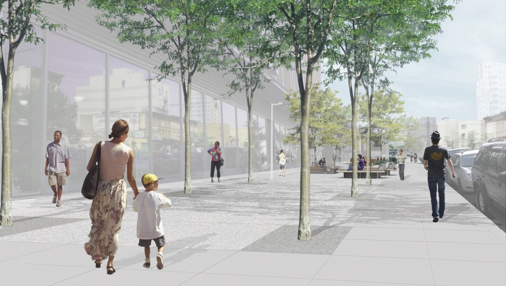 Myrtle Avenue Pedestrian Plaza. Credit: Myrtle Avenue Brooklyn Partnership