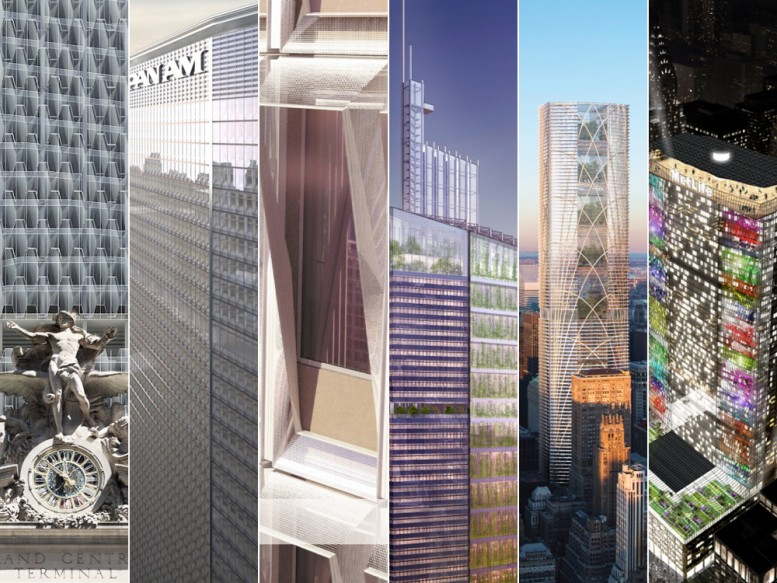 "Finalists for the ""Reimagine a New York City Icon"" contest for the MetLife Building."