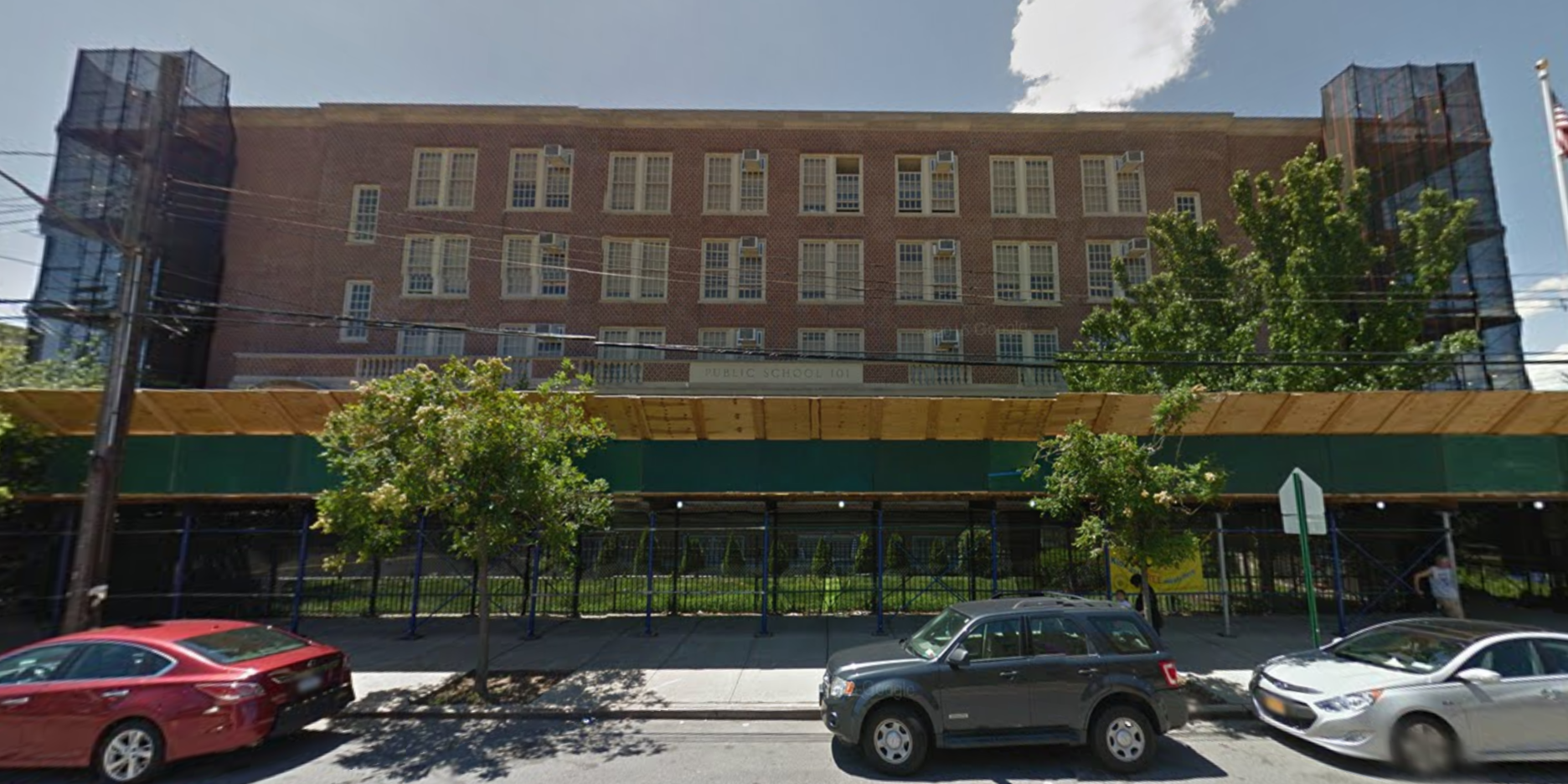 The current P.S. 101 at 2350 Benson Avenue in Gravesend. image via
