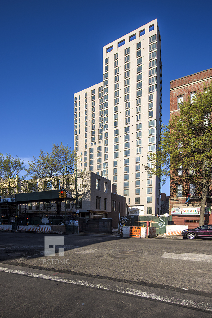 Construction at 626 Flatbush Avenue. Photo by Tectonic