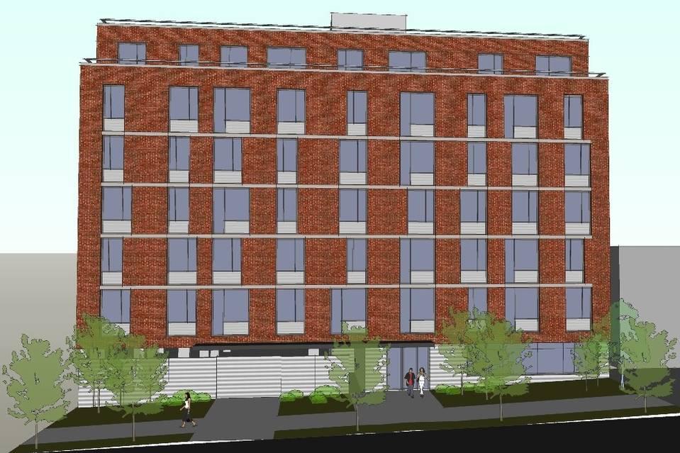 Rendering of 839 Tilden Street by Norman Cox/Franke Gottsegen Cox Architects, via WSJ