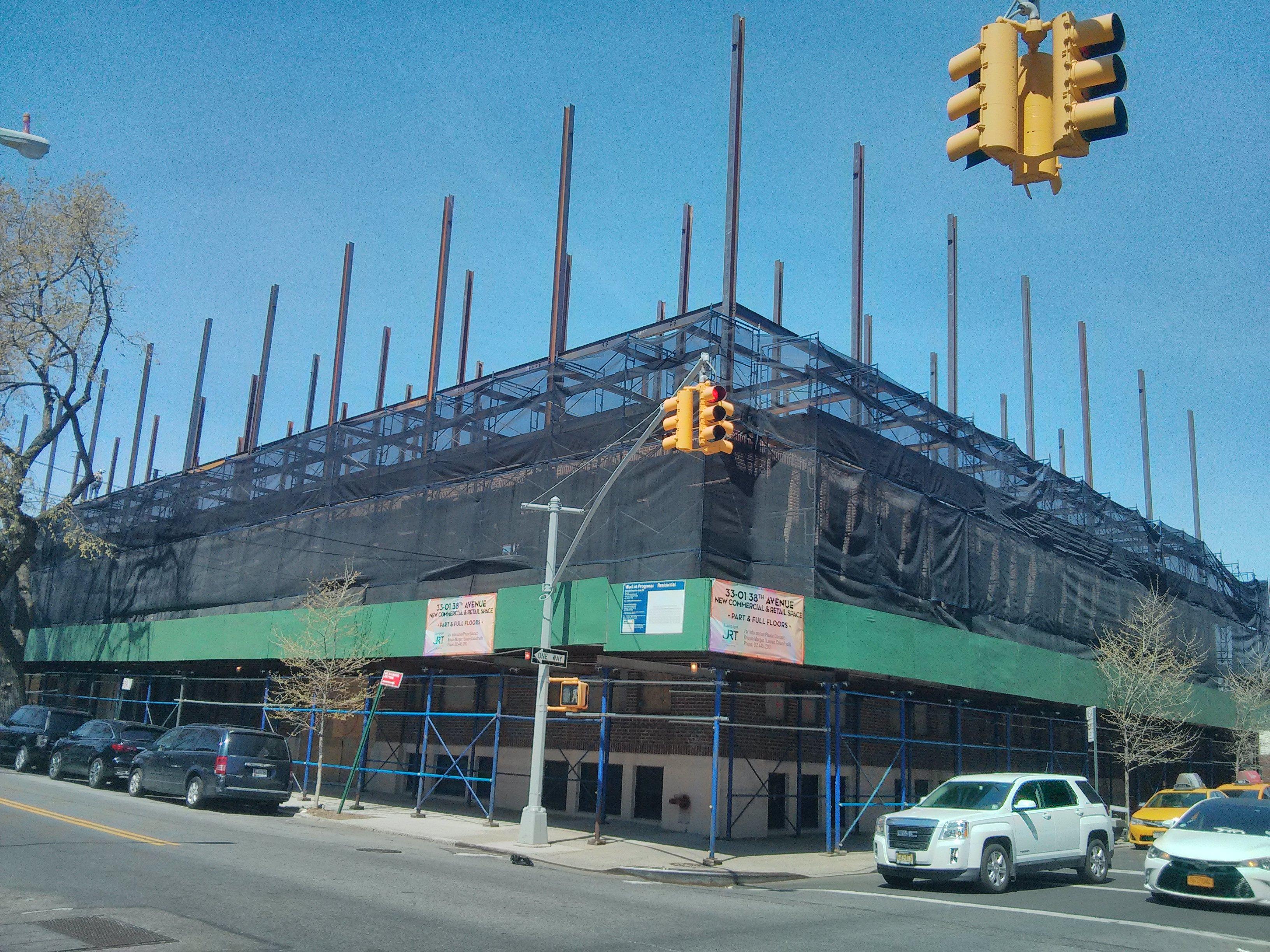 Construction at 33-01 38th Avenue. Photo by YIMBY reader Bob P.